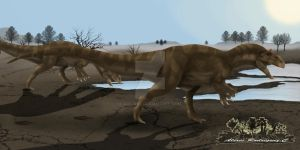 Allosaurus fragilis ilustracion by arc-one