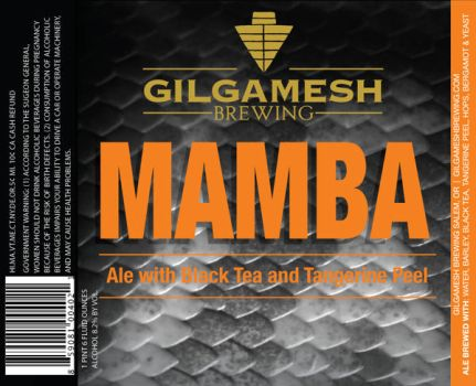 Gilgamesh Brewing - Mamba Label by filly4585