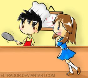 Red x Blue - Chef and Maid by Eltrador