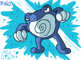 #062 Poliwrath by SaintsSister47