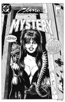 Elvira's House of Mystery #1 Cover Recreation by dalgoda7