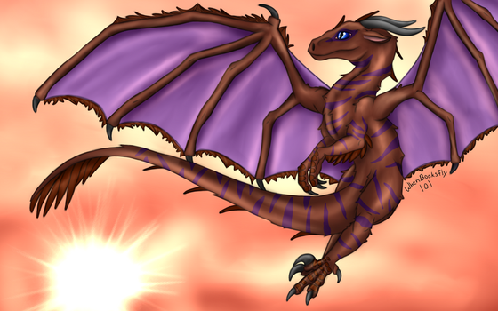 A Sunset To Admire - AT with Utahraptor12 by WhenBooksFly101
