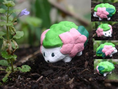 Shaymin sculpture by Porcubird