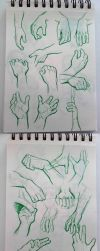 Hand Studies All Together by Psamophis