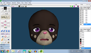 Model WIP - Heiwane face by wizardotaku