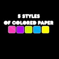 5 STYLES OF COLORED PAPER + by Discopada