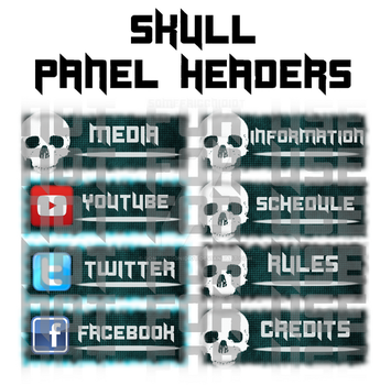 Twitch Panels - Skull Headers by somefriggnidiot
