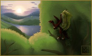 river of the mountains by Syvaender