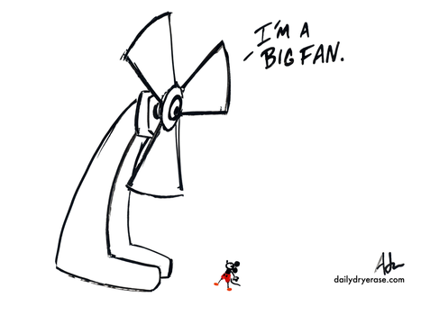big fan by adamcloud