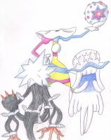 Blacephalon, Xurkitree, and Nihilego