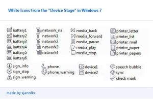 Windows 7 device stage icons by xjannikx