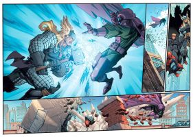 Avengers Double Page Colored by mikebowden