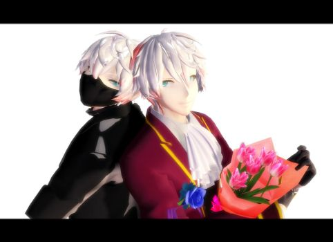 [MMD] Unknown and Ray Mystic Messenger[Open DL] by ShirokitsuneJin