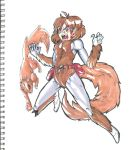 the uncanny squirrel girl and tippy toe by coolmonkeyd