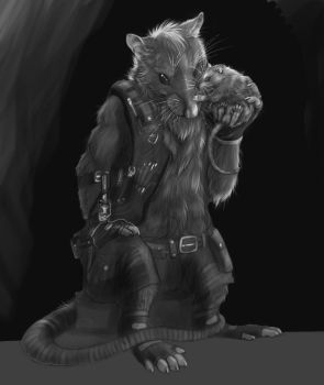Tkr-Greyscale commission- by RogueLiger