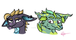 Doggos / / / Commission For GoblinFuzz by ThePurpleGriffin