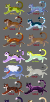 30-60 Point Feline Adopts OPEN by The-Hare