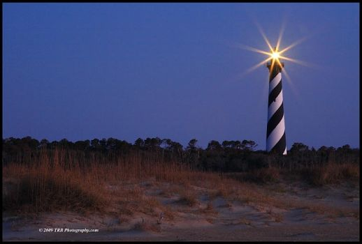 Lighthouse at Cape Hatteras by TRBPhotographyLLC