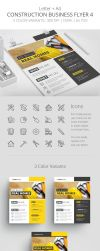 Construction Business Flyer 4 - Letter + A4 by survivorcz