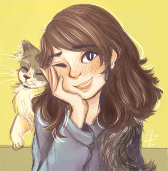 Me and  my cat! by Nekoyinu