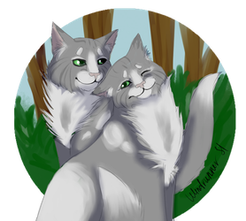 Mousewhisker and Hazeltail by Windrunner-S1