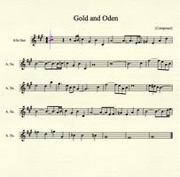 Gold and Oden for Alto Sax by MrConan42