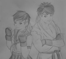 Ryu and sakura by sakura-streetfighter