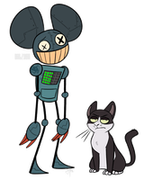 cat and mau5 by halzyan