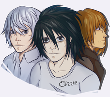 Death Note / Fanart / L, Near and Mello by Eilizzle