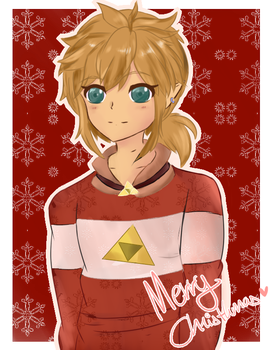 Merry Christmas to Botw fans! Link in Christmas by Animatex-San