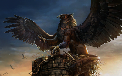 Griffin - commission by Skyrawathi