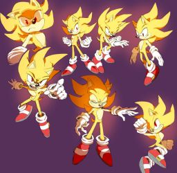 Super Sonic studies by Shira-hedgie