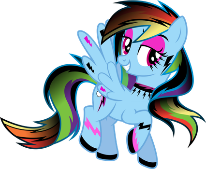 Gothic Rainbow Dash by TheShadowStone