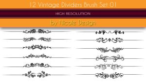 12 Vintage dividers brush set 01 by noema-13