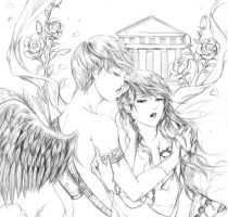 Eros and psyche by bluemoon214