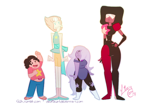 We are the Crystal Gems! by devilSwirl