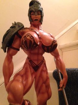 GLADIATRIX statue by argocomics
