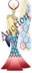 AUCTION (CLOSED) - Milotic Inspired Dress by Ovesturia