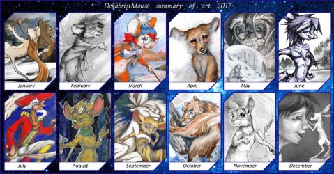 2017 summary of art by DekabristMouse