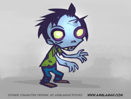 zombie design for game by amblagar