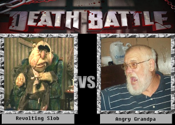 Death Battle: Revolting Slob VS Angry Grandpa by Sonicbooom1212