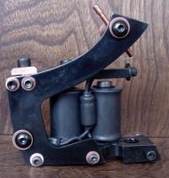 Tattoo machine frame side view by patchwork-steve