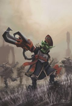 Wh40K: Commissar Grot by StugMeister