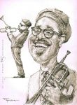 Dizzy Gillespie caricature by FedeBengoa