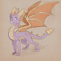 Big Boy Spyro | Day 1 | Daily Sketch Challenge by florahthorne