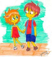 Lisa and Nelson by lluviadepatos