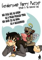 Genderswap Harry Potter 5: The Valentine Card by mistressmariko