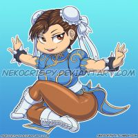 Chun Li Sticker by NekoCrispy