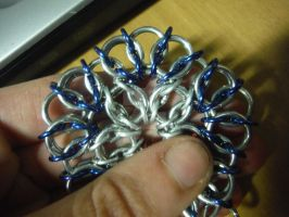 Chainmaille flower 3 by viciousmischief