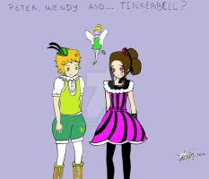 Peter Wendy and Tinkerbell by MiniMinina